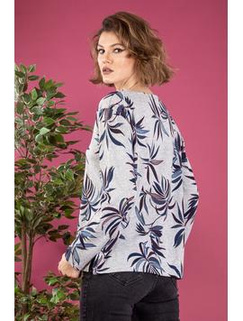Bluza Dama ShortFlowerThree Gri
