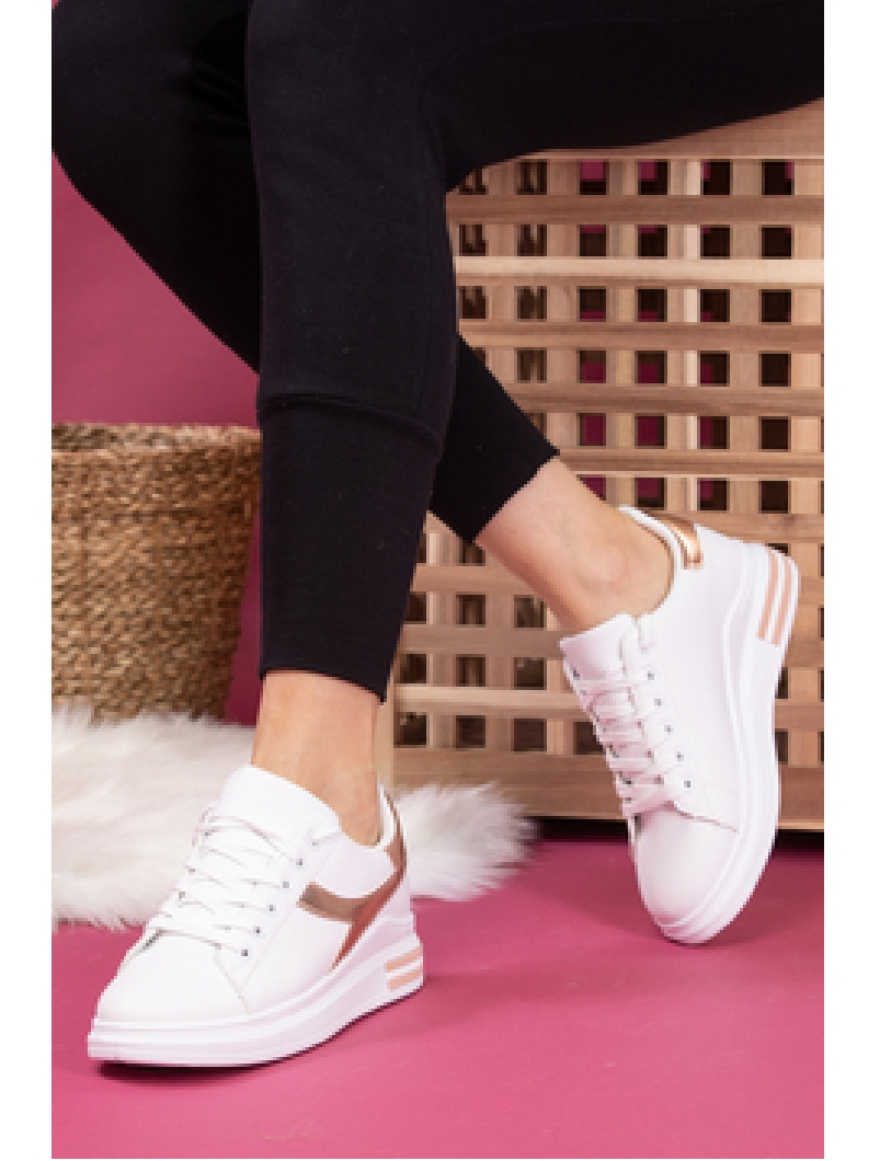 Adidasi Dama SportStar Two Alb si Auriu