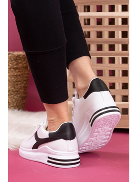 Adidasi Dama SportStar One Alb si Negru