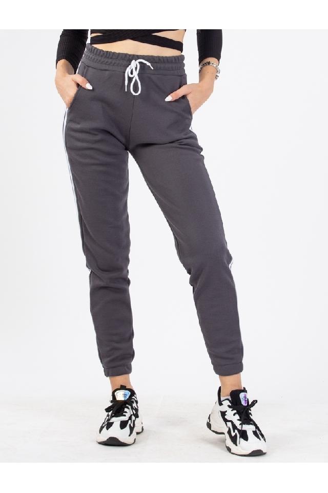 Pantaloni Dama Jacquetta Gri Inchis