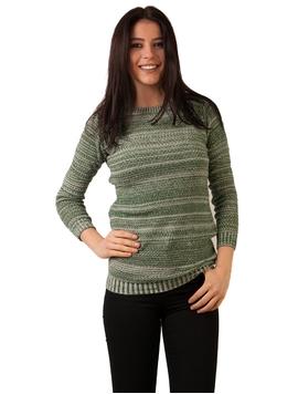Pulover Dama Cu Model Inspicat Verde