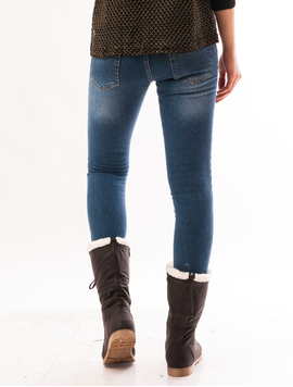 Jeans Dama Cu Strasuri Albastri