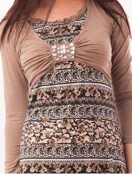 Bluza Dama Cu Model Floral Si Pietre Stralucitoare Grace Maro