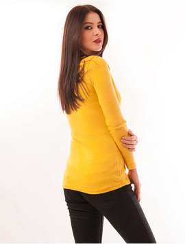 Pulover Dama Uni Simplicity Galben