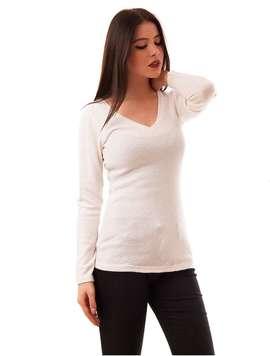 Pulover Dama Uni Simplicity Alb
