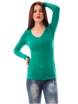 Pulover Dama Uni Simplicity Verde