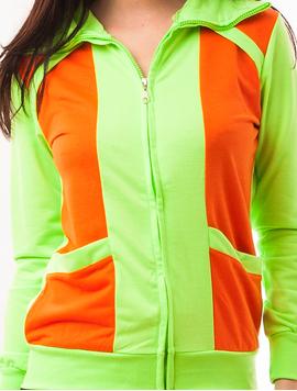Bluza Dama Sport Cu Fermoar Viber Verde Deschis