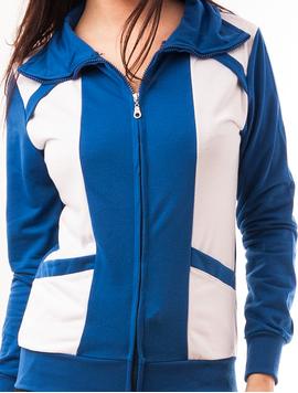 Bluza Dama Sport Cu Fermoar Viber Albastra