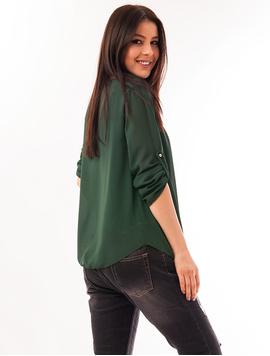 Bluza Dama Din Voal Cu Colier Heart Verde