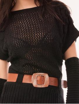 Vesta Dama Cu Model Tricotat Si Manusi Fish Neagra