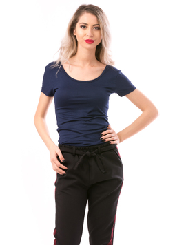Tricou Dama SimplePamuk Bleumarin