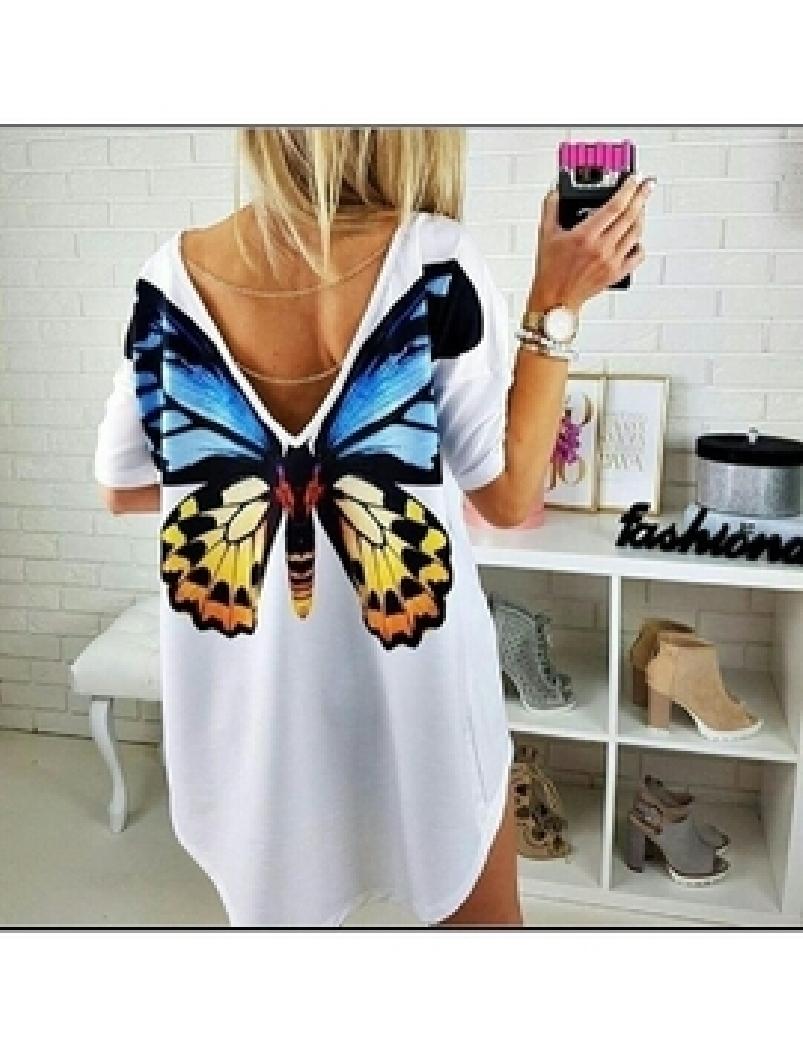 Bluza Dama ExcentricFlowFly88 Alb
