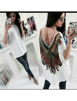 Bluza Dama ExcentricWings88 Alb