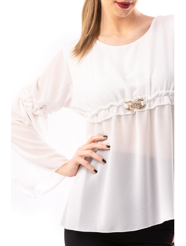 Bluza Dama VeilBucleinWaist Alb
