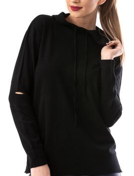 Hanorac Dama SimpleKnitted Negru