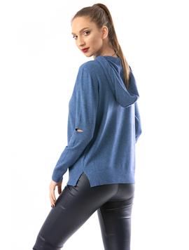 Hanorac Dama SimpleKnitted Albastru