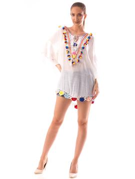Bluza Dama BrodyMeaw10 Alb