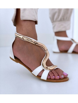Sandale Dama OlyHe Alb