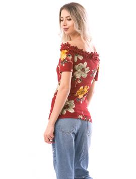 Bluza Dama FlowerFashion Bordo Kaki si Galben