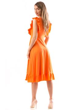 Rochie Dama SiminaHugh portocaliu