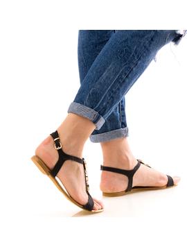 Sandale Dama FrontDiamond Negru