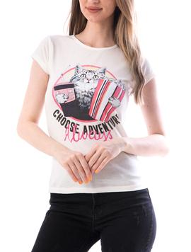Tricou Dama Bumbac ChooseAdventure Alb