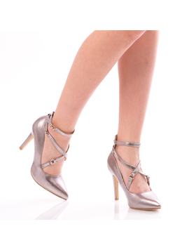 Pantofi Dama GreyShine Gri Metalizat