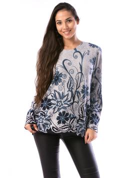 Bluza Dama CollarCrew90 Gri