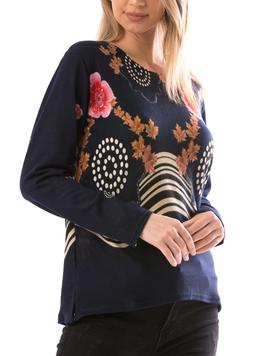 Bluza Dama CollarSimple11 Bleumarin