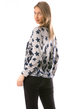 Bluza Dama CollarV10 Gri