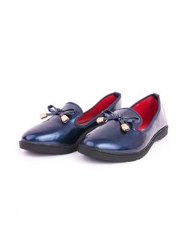 Pantofi Dama Cu Fundita Fancy Bleumarin