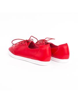 Pantofi Dama Cu Siret FashionSport Rosu
