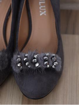 Pantofi Dama Cu Toc Mediu Opinion Gri