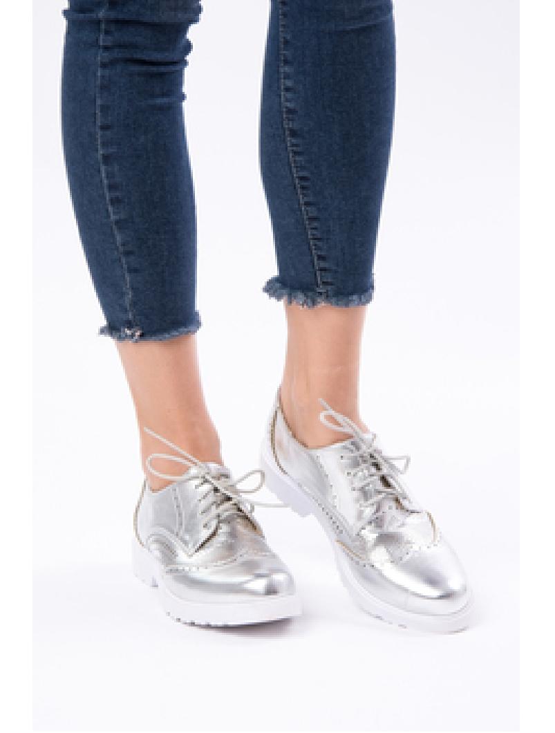 Pantofi Dama Casual Lacuiti Everyday Argintii