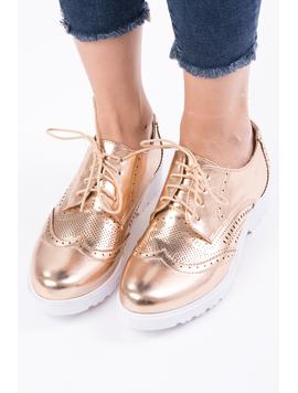 Pantofi Dama Casual Lacuiti Everyday Bronz