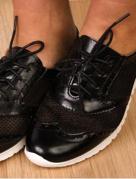 Pantofi Dama Sport Cu Perforatii Impress Negri