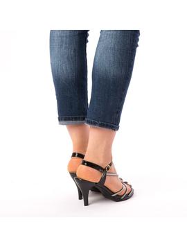 Sandale Dama Cu Toc Why Negre