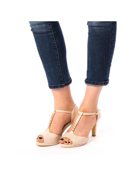 Sandale Dama Cu Toc Advice Bej