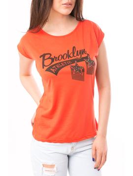 Tricou Dama Cu Strasuri Brooklyn Corai