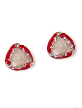 Cercei Cu Perla Rosii