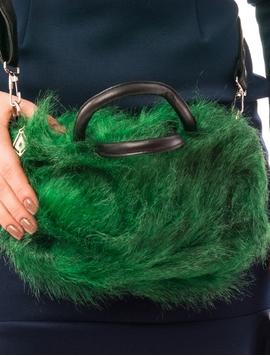 Geanta Dama Cu Blanita Artificiala Verde