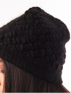 Caciula Simpla Cu Nasturi De Blanita Neagra