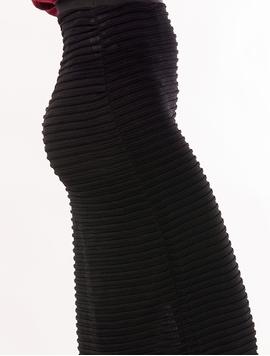 Fusta Dama Lunga Mulata Si Texturata Neagra