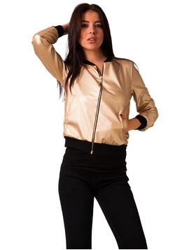 Jacheta Dama Metalica Aurie
