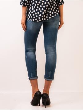 Jeans Dama Usor Prespalati Albastru