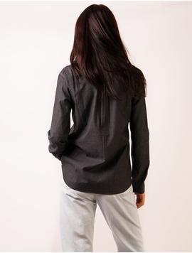 Camasa Dama Stil Denim Neagra