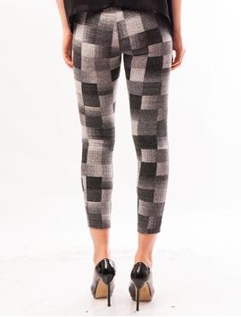 Pantaloni Dama Stil Colant Cu Patratele Gri