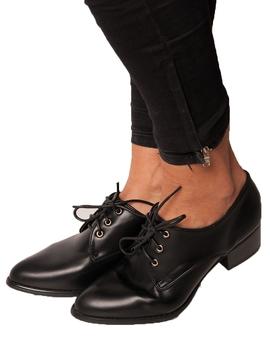 Pantofi Dama Cu Siret Negri