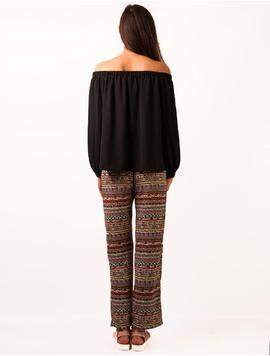 Pantaloni Dama Cu Imprimeu Colorat