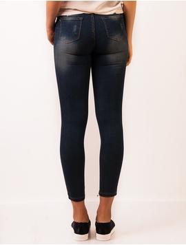 Jeans Dama Cu Model Prespalat Bleumarin